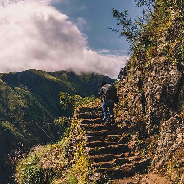 Wandeling naar Machu Picchu