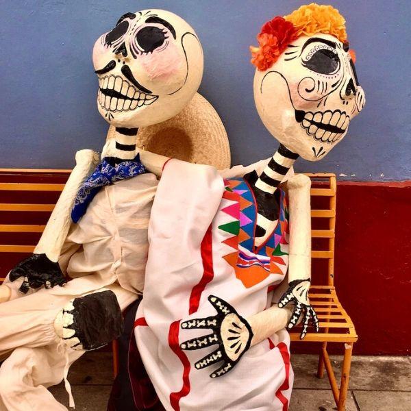 Vier Dia de los Muertos in Oaxaca Mexico
