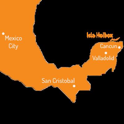 Rondreis-Mexico-Landkaart-Inspiratiereis